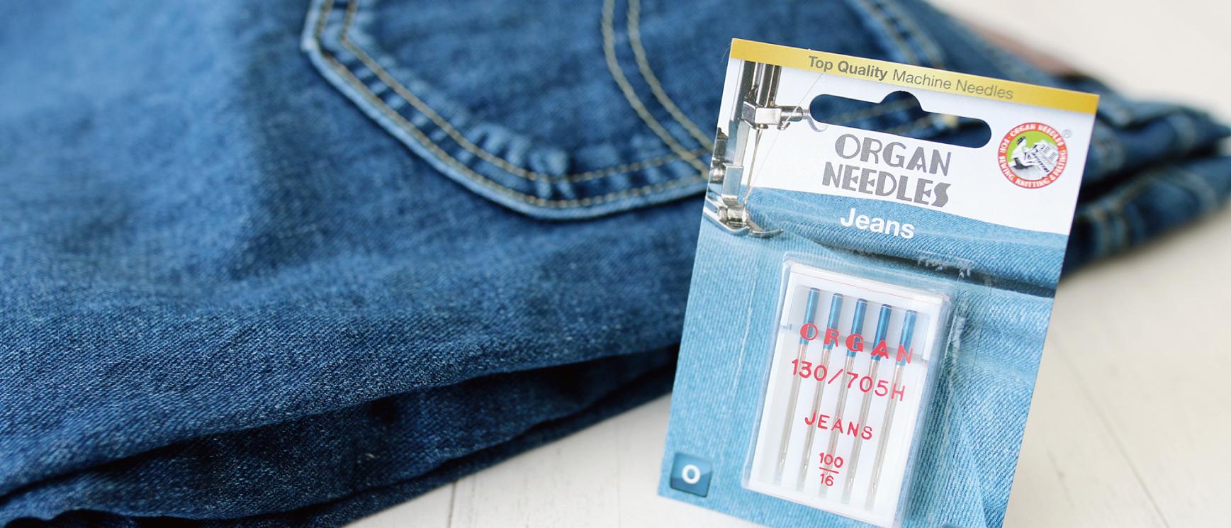 オルガン針株式会社が運営するミシンユーザーのための情報発信型通販サイトArt Stitch Room Powered by ORGAN NEEDLE CO.,LTD.(アートステッチルーム)|デニムや帆布など厚手の素材に!-Jeans(ジーンズ)-